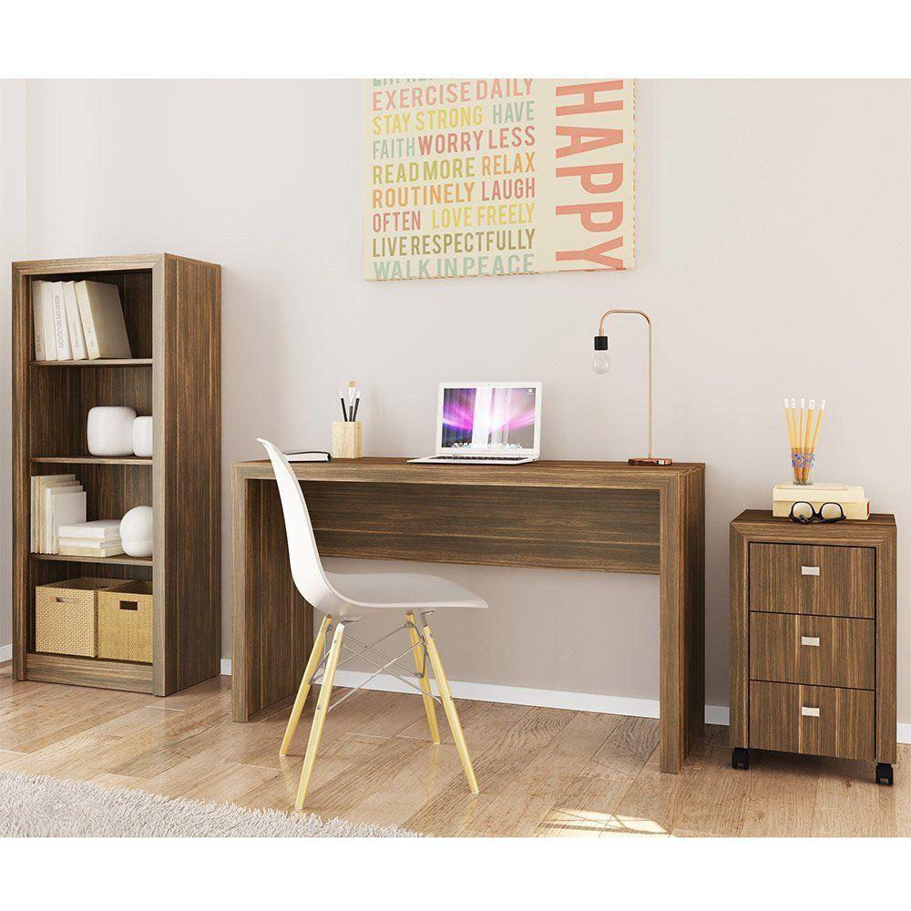 Ambiente para Home Office 03 Peças Nogal - Tecno Mobili