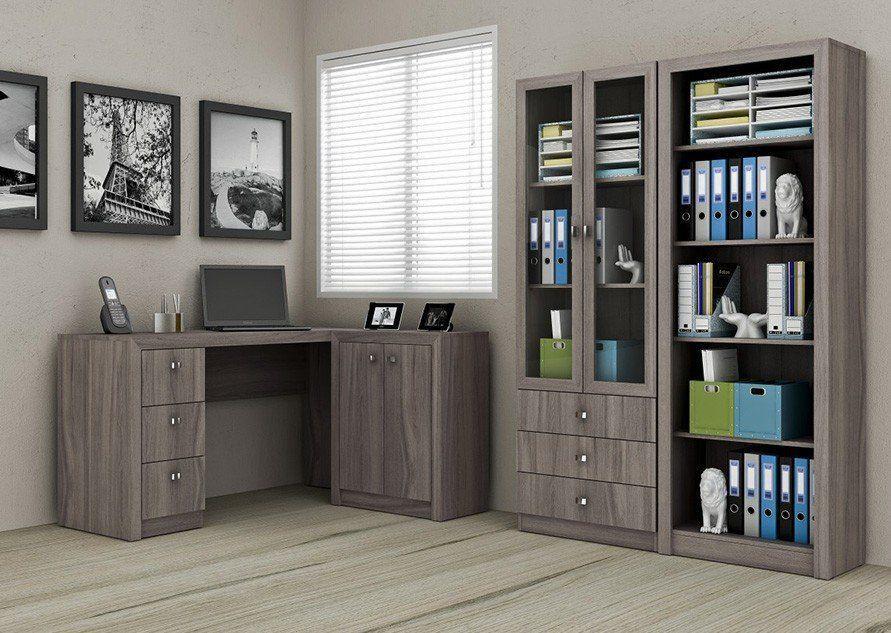 Ambiente para Home Office 04 Peças Carvalho - Tecno Mobili