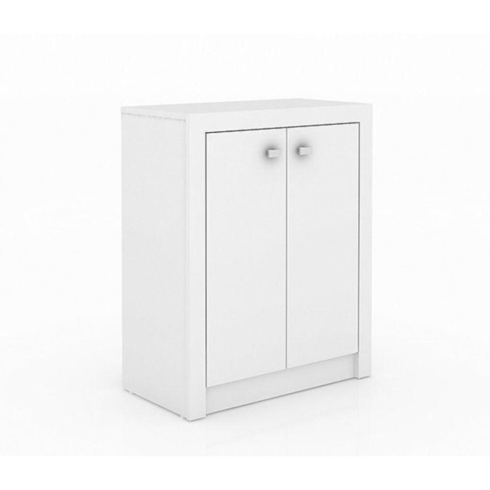 Armário Baixo para Escritório com 02 Portas ME4103 Branco - Tecno Mobili