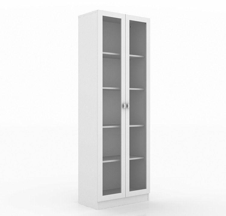 Armário c/ Portas de Vidro para Escritório ME4115 Branco - Tecno Mobili