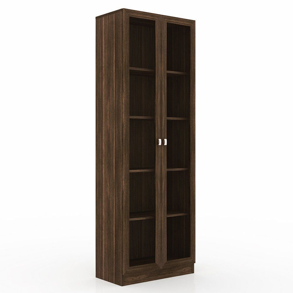 Armário ME4115 Portas de Vidro para Escritório Nogal - Tecno Mobili