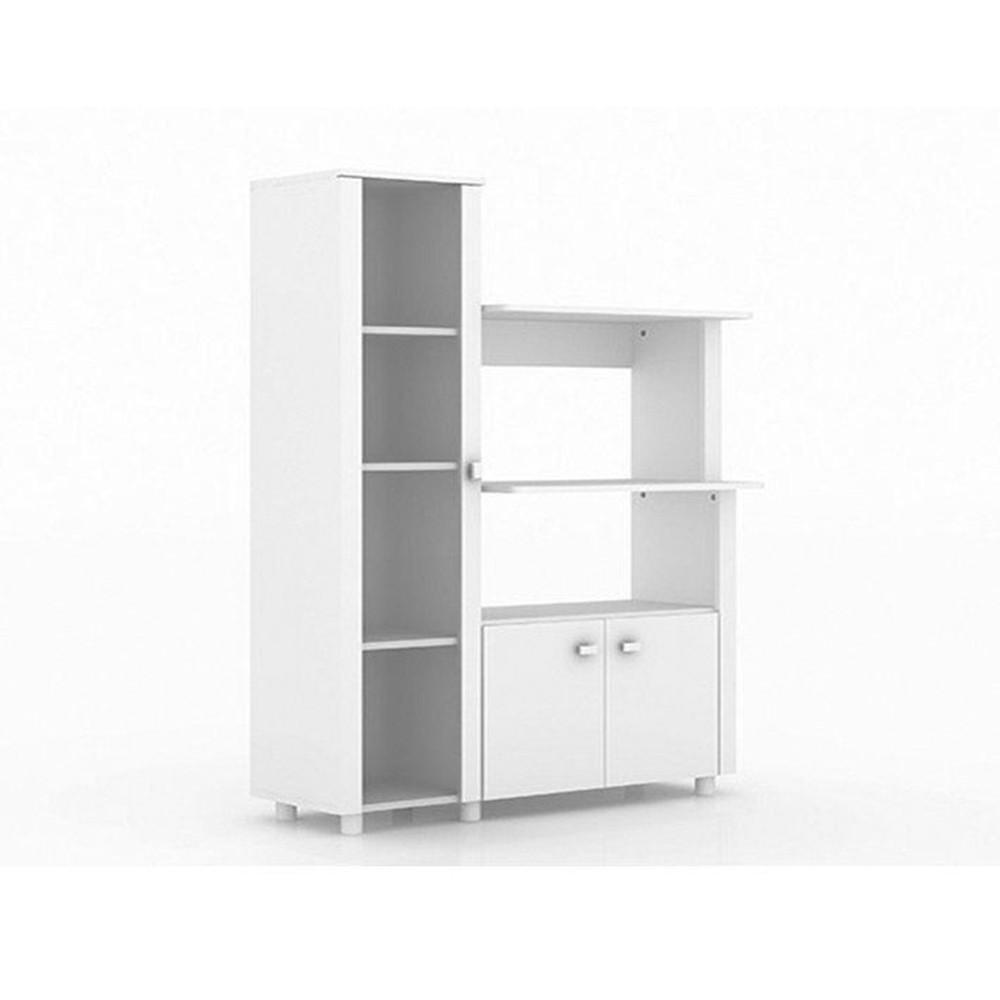 Balcão Multiuso 03 Portas BL3304 Branco - Tecno Mobili