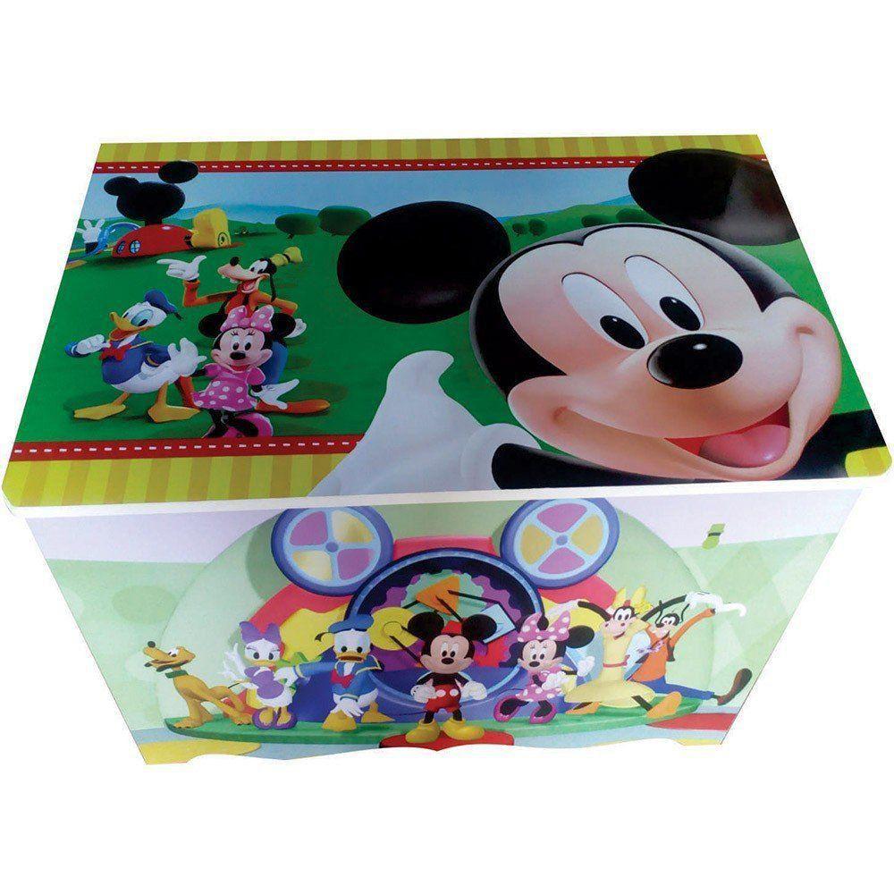 Baú Organizador Para Brinquedos em MDP Mickey Mouse - Criança Feliz