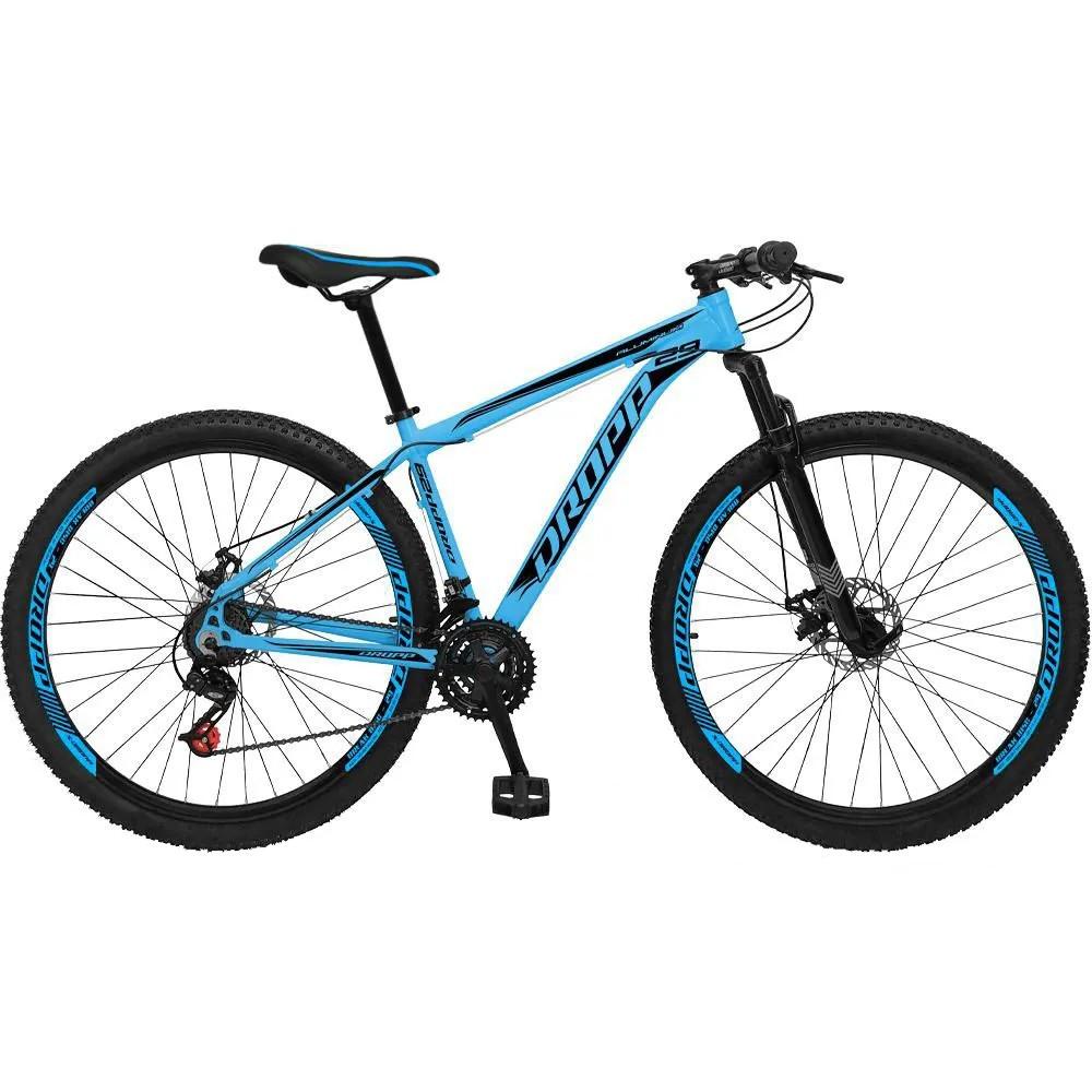 Bicicleta Aro 29 Freio a Disco Mecânico Quadro 21 Alumínio 21 Marchas Azul - Dropp