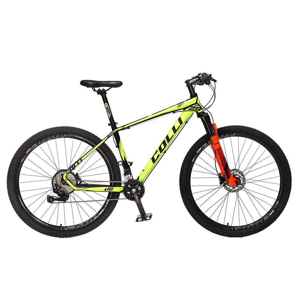 Bicicleta Colli F11kit Deore shimano Aro 29 Freio hidráulico Quadro 17'' 20V Alumínio Amarelo Neon - Colli Bike