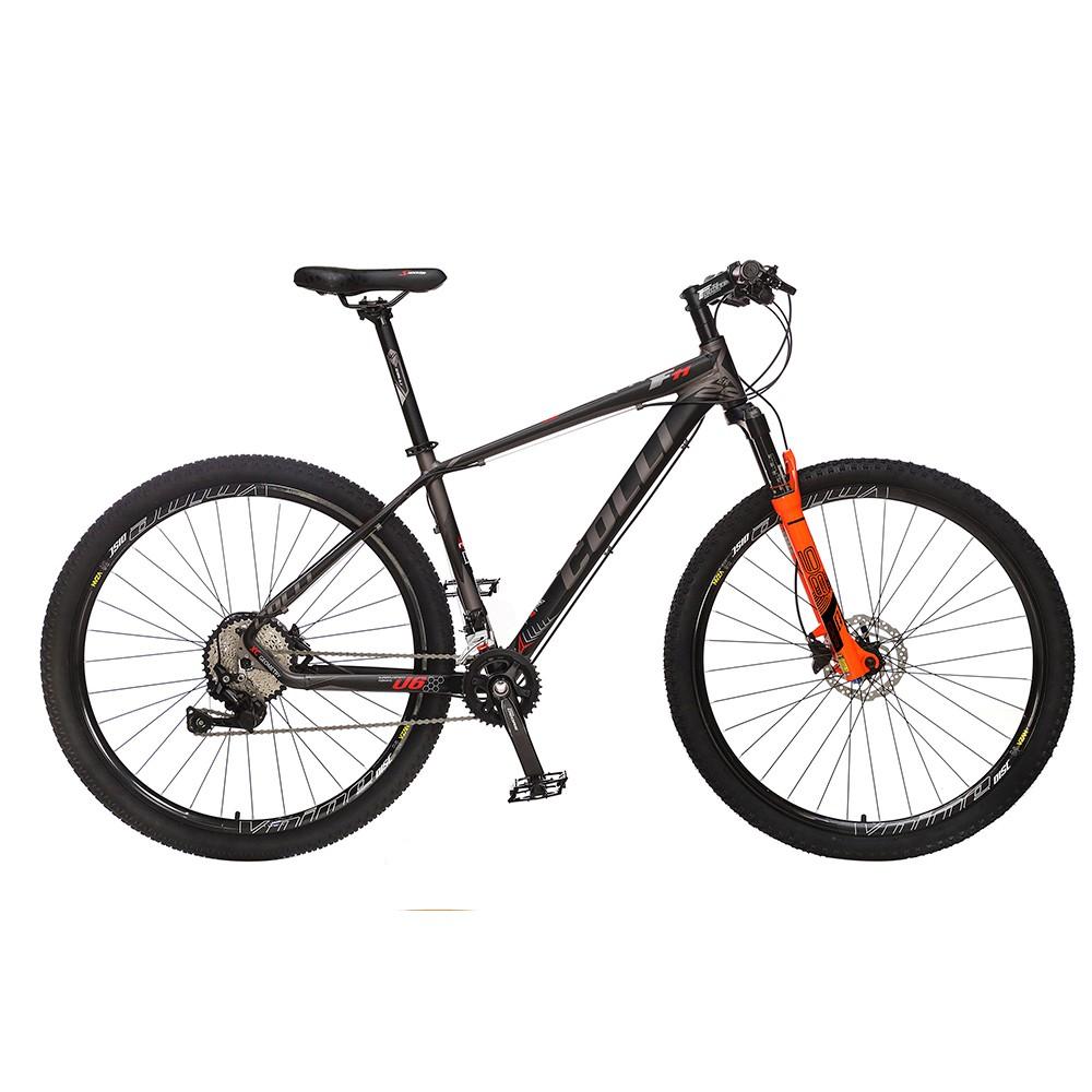 Bicicleta Colli F11kit Deore shimano Aro 29 Freio hidráulico Quadro 17'' 20V Alumínio Preta - Colli Bike