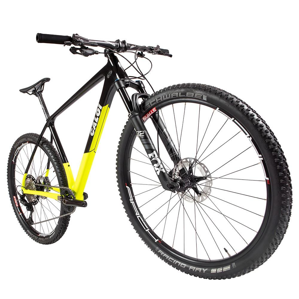 Bicicleta Elite Carbon Racing XT 2021 Aro 29 Quadro 19 Carbono Preto/Amarelo - Caloi
