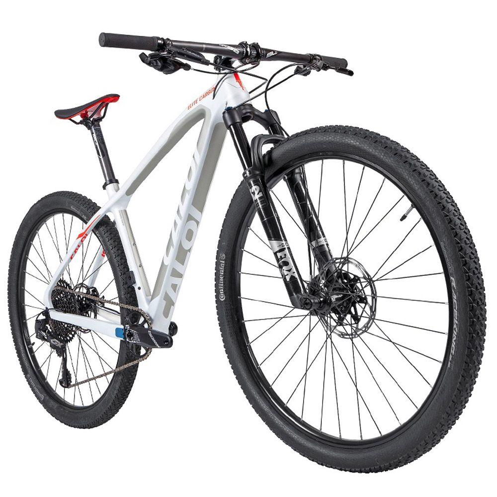 Bicicleta Elite Carbon Racing XD 2020 Aro 29 Quadro 17 Fibra de Carbono Branco - Caloi