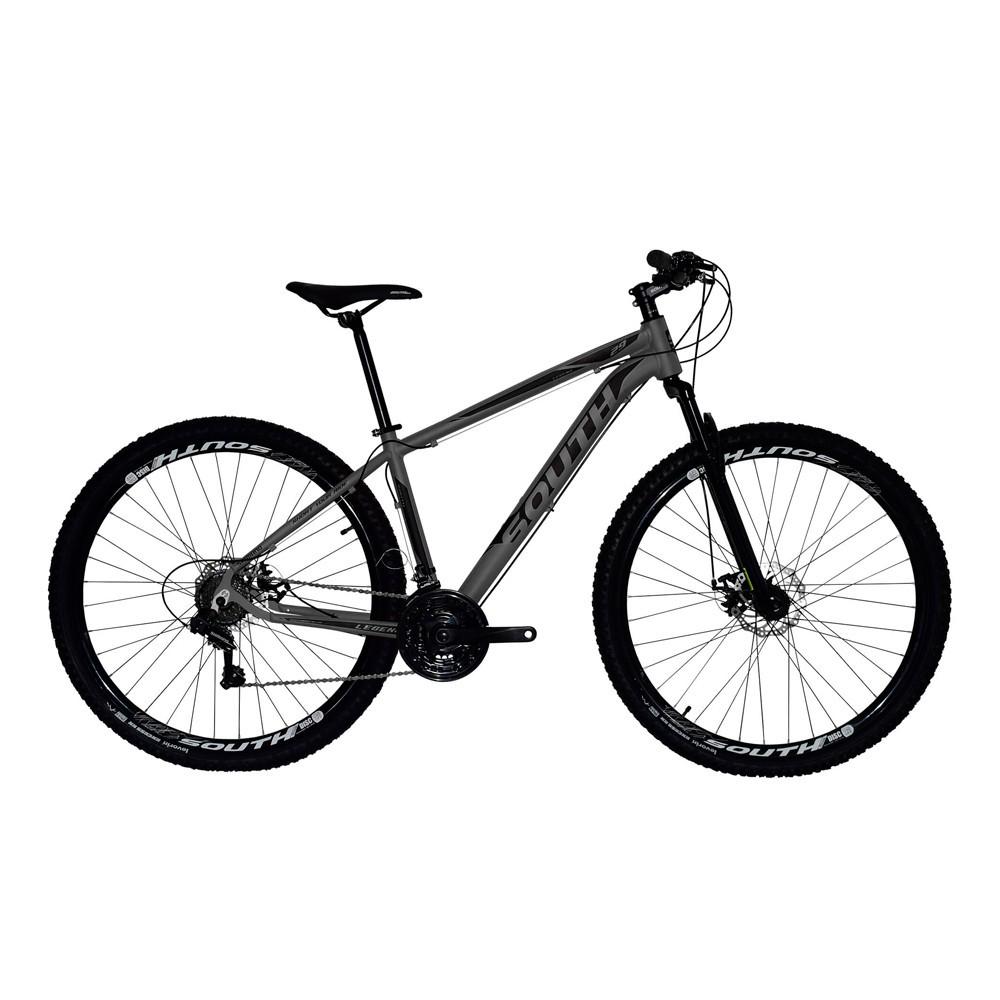 Bicicleta MTB Legend Aro 29 Suspensão Freio a Disco Quadro 19'' 21V Alumínio Preto- South Bike