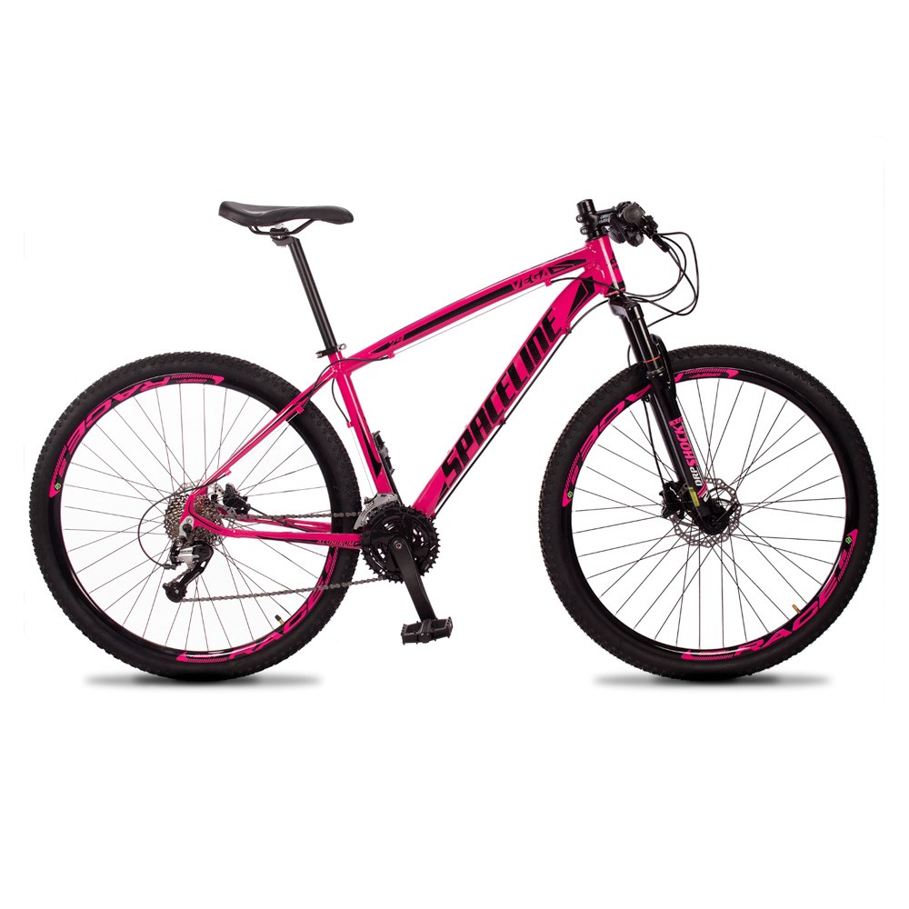 Bicicleta MTB Vega Aro 29 Quadro 19 Alumínio 27 Marchas Freio Hidráulico Rosa - Spaceline
