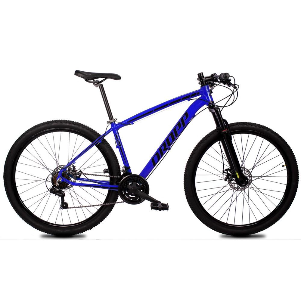Bicicleta Z1-X Aro 29 Quadro 15 Alumínio 21 Marchas Freio Disco Mecânico Azul Preto - Dropp