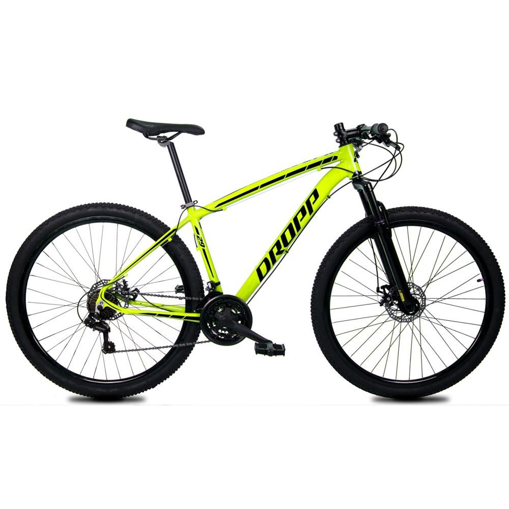 Bicicleta Z1-X Aro 29 Quadro 19 Alumínio 21 Marchas Freio Disco Mecânico Amarelo - Dropp