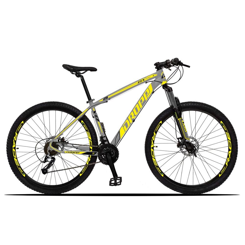 Bicicleta Z3-X Aro 29 Quadro 15 Alumínio 27 Marchas Freio Disco Hidráulico Cinza Amarelo - Dropp