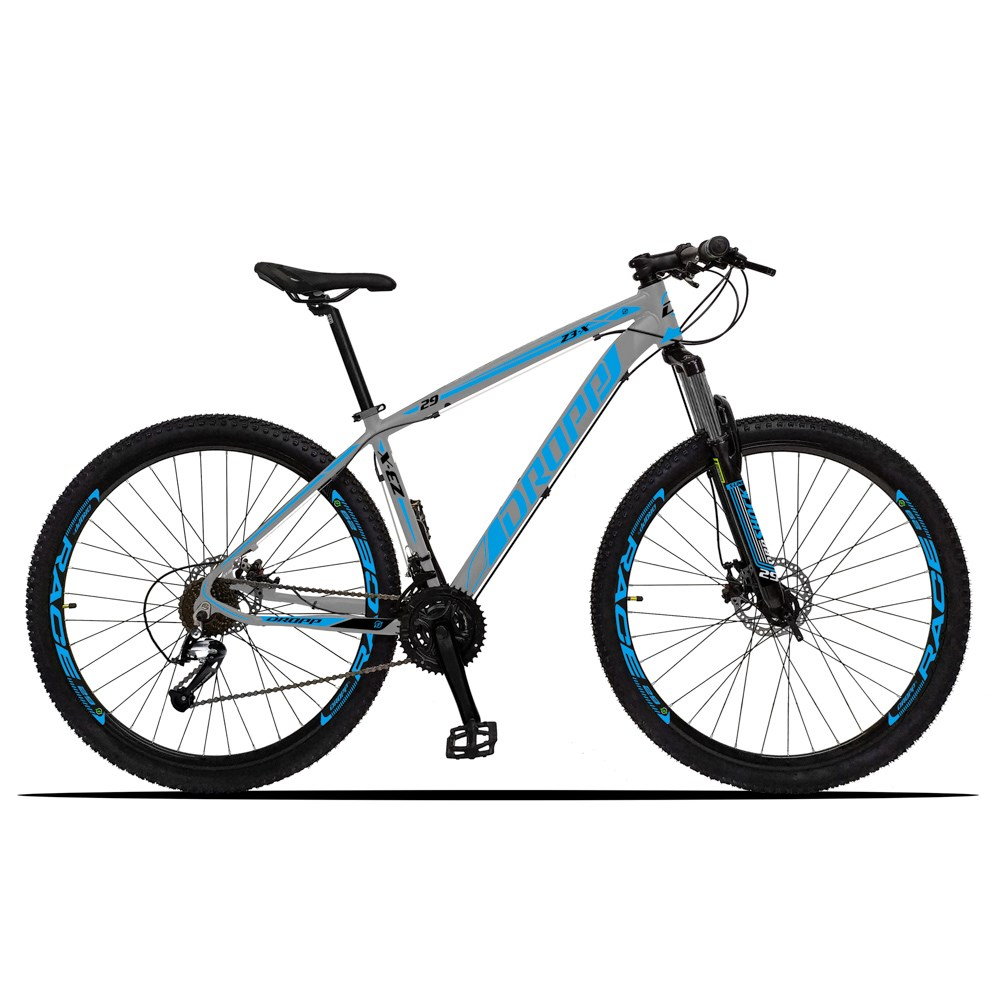 Bicicleta Z3-X Aro 29 Quadro 15 Alumínio 27 Marchas Freio Disco Hidráulico Cinza Azul - Dropp