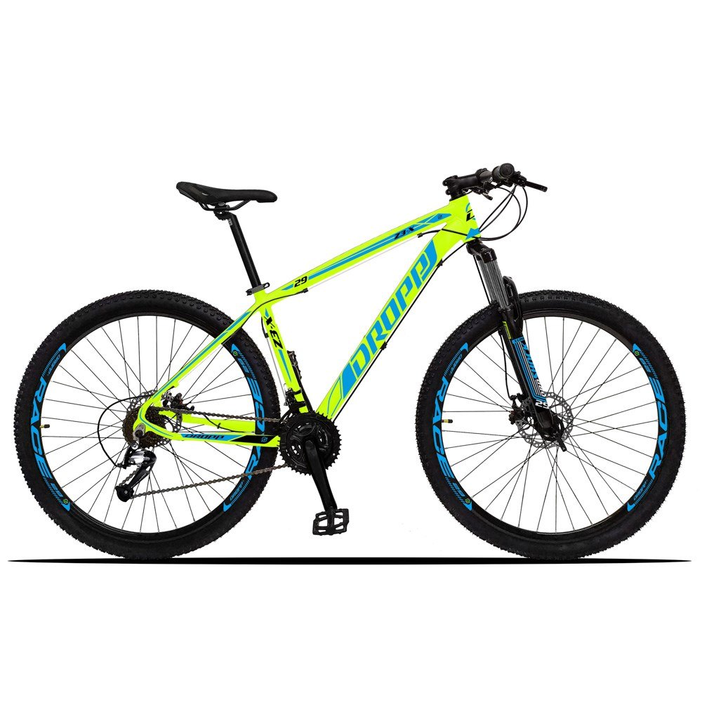 Bicicleta Z3-X Aro 29 Quadro 19 Alumínio 27 Marchas Freio Disco Hidráulico Amarelo Azul - Dropp