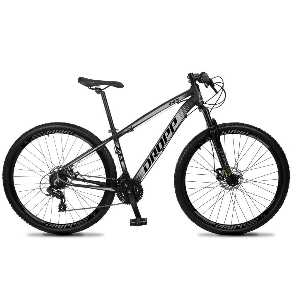 Bicicleta Z4-X Aro 29 Quadro 17 Alumínio 24v Suspensão Trava Freio Hidráulico Preto Cinza - Dropp