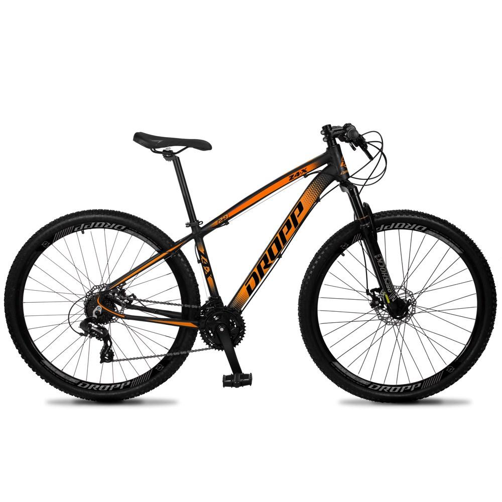 Bicicleta Z4-X Aro 29 Quadro 21 Alumínio 24 Marchas Freio Disco Mecânico Preto Laranja - Dropp