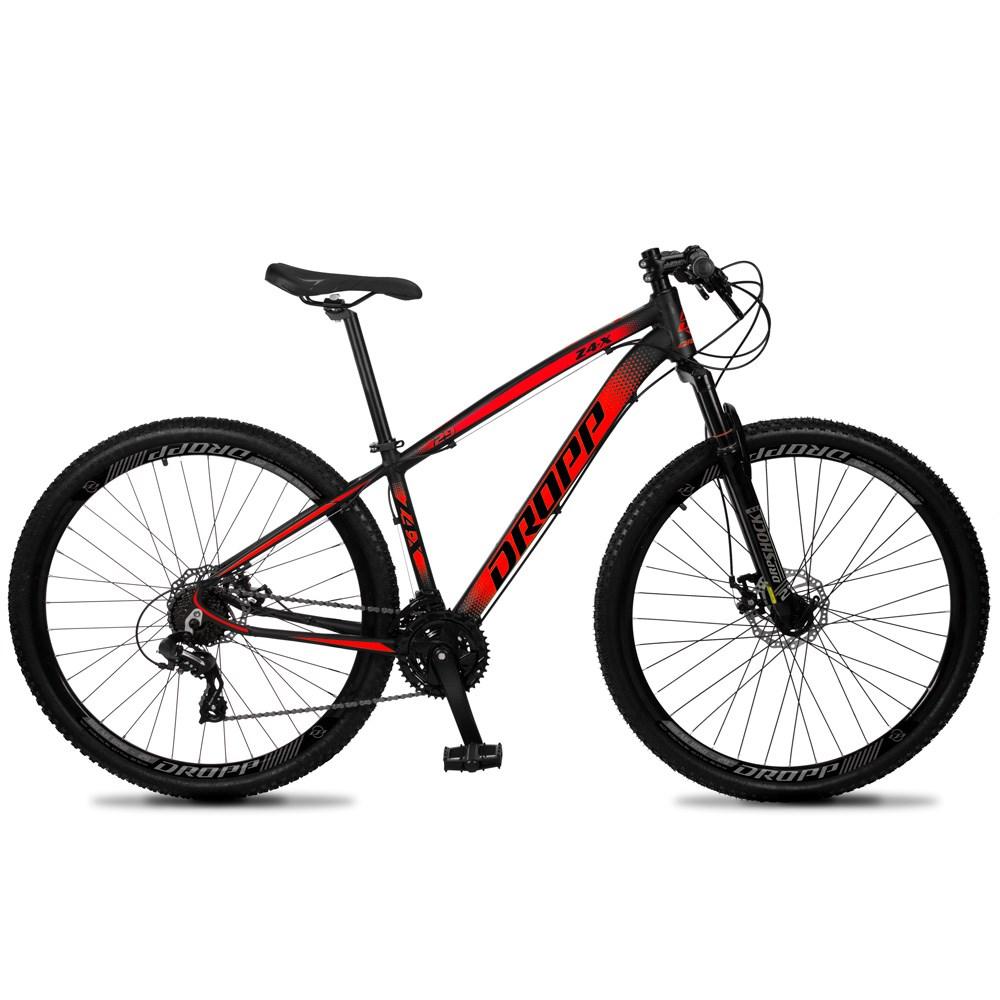 Bicicleta Z4-X Aro 29 Quadro 21 Alumínio 24 Marchas Freio Disco Mecânico Preto Vermelho - Dropp