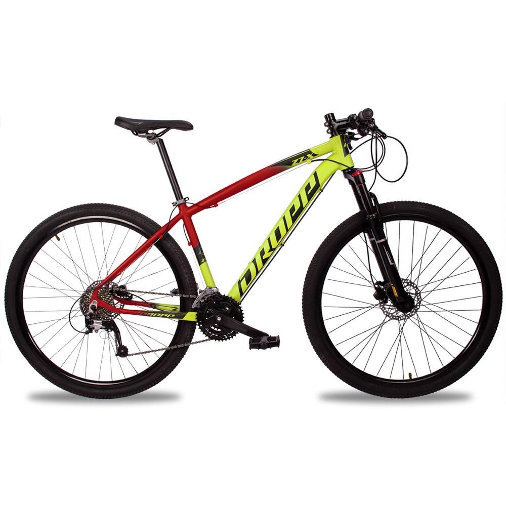 Bicicleta Z7-X Aro 29 Quadro 17 Alumínio 27v Susp. Trava Freio Hidráulico Amarelo Vermelho - Dropp