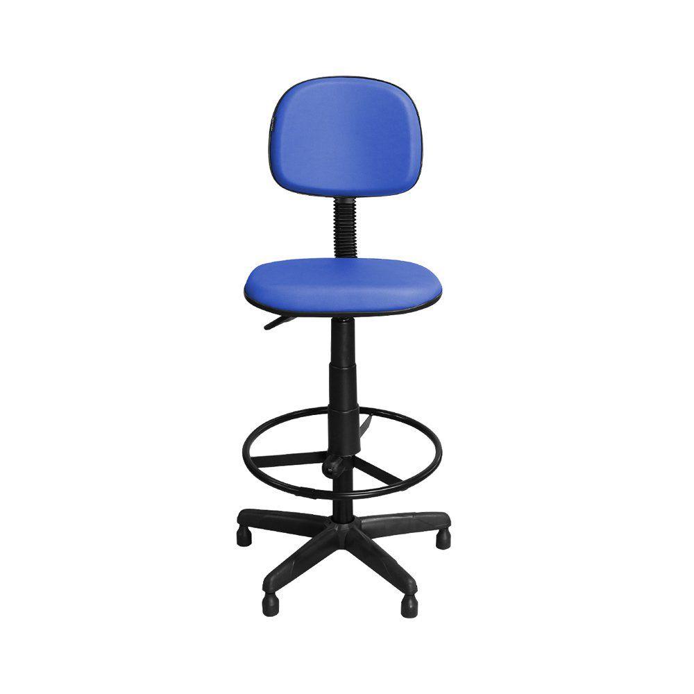 Cadeira de Caixa CS-05 Giratória Couro Azul - Pethiflex