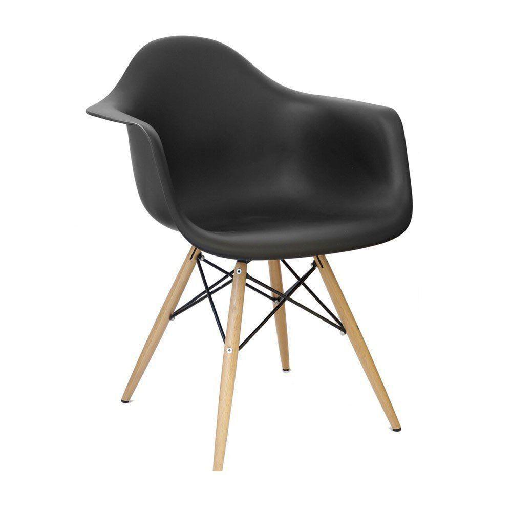 Cadeira Charles Melbourne com Base de Madeira - Facthus