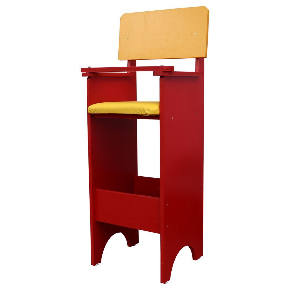 Cadeira Infantil Para Refeição Restaurante Vermelho/Amarelo - Criança Feliz