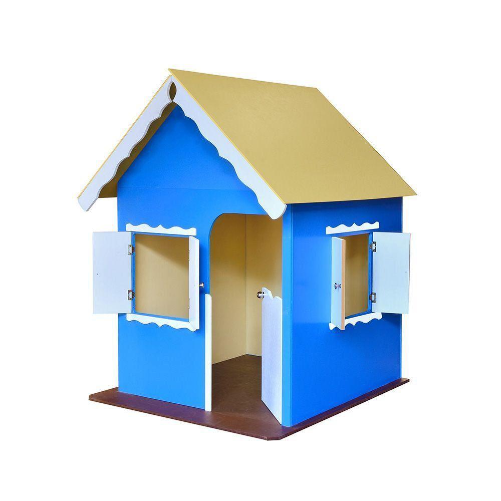 Casinha de Brinquedo com Pés Azul - Criança Feliz