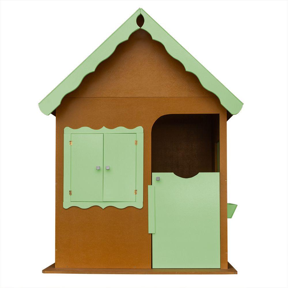 Casinha de Brinquedo Infantil Verniz/Verde - Criança Feliz