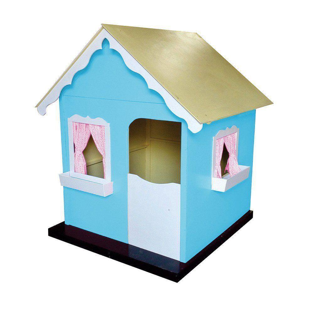 Casinha Infantil de Brinquedo com Cortina Tiffany/Branco - Criança Feliz