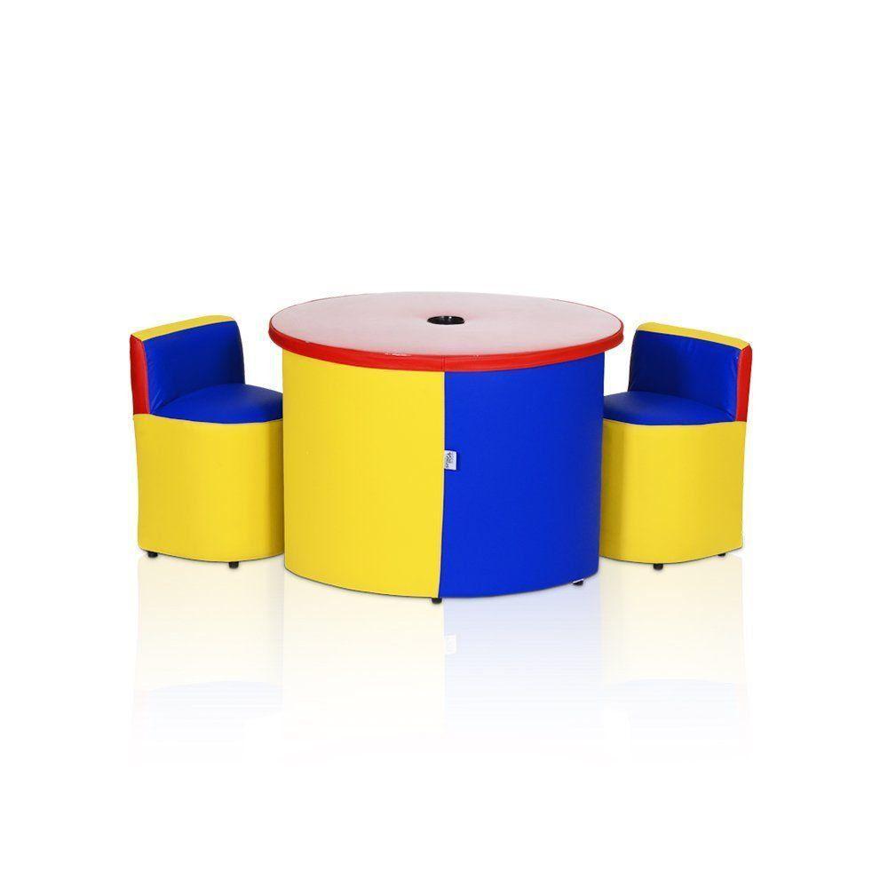Conjunto Kids 2 Cadeiras Colorido - Stay Puff