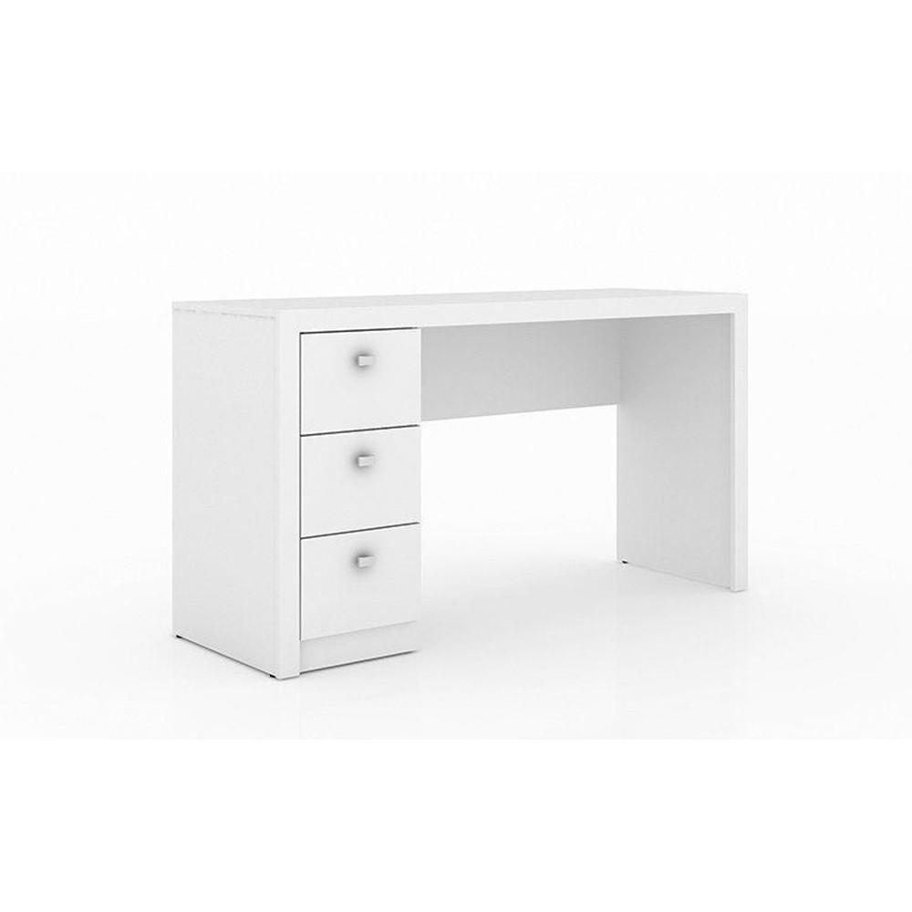 Conjunto Mesa com Balcão para Home Office Branco - Tecno Mobili
