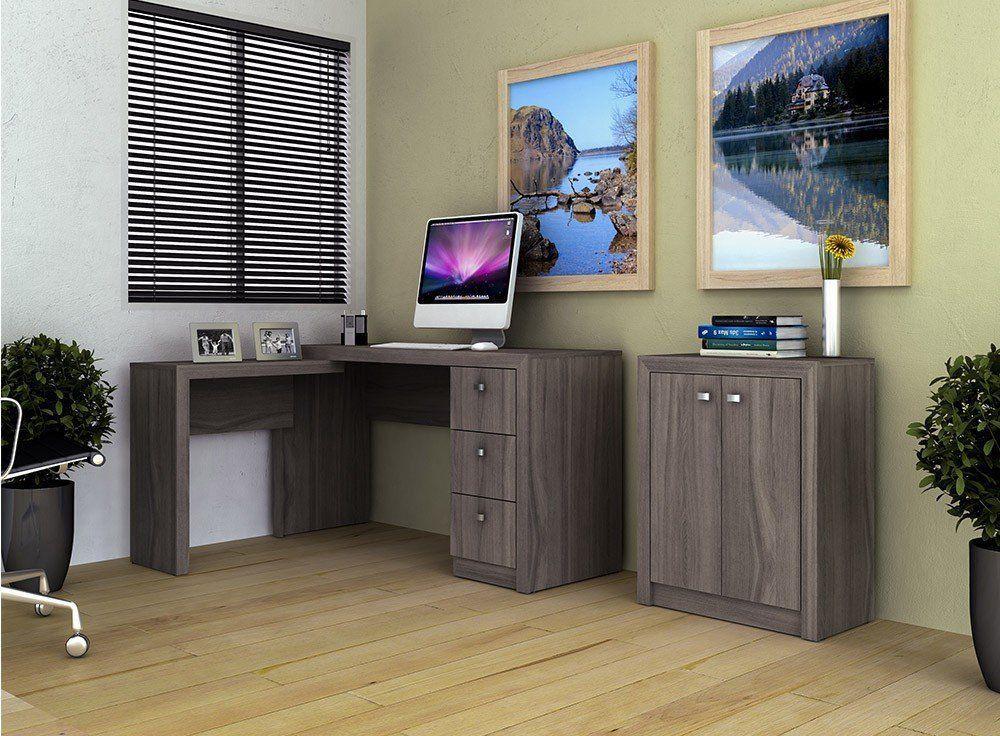 Conjunto para Home Office 02 Peças Carvalho - Tecno Mobili