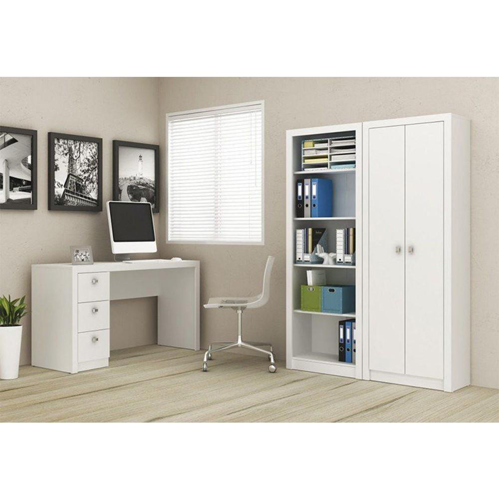 Conjunto para Home Office 03 Peças Branco - Tecno Mobili
