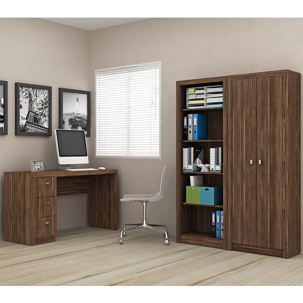 Conjunto para Home Office 03 Peças Nogal - Tecno Mobili