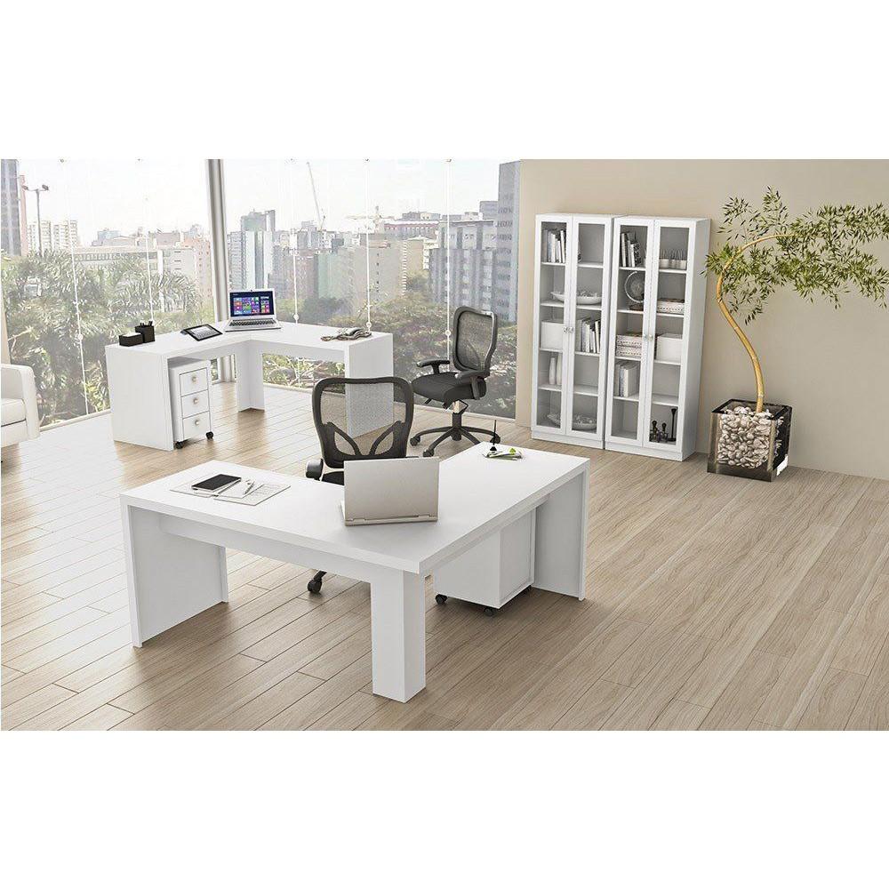 Conjunto para Home Office 06 Peças Branco - Tecno Mobili