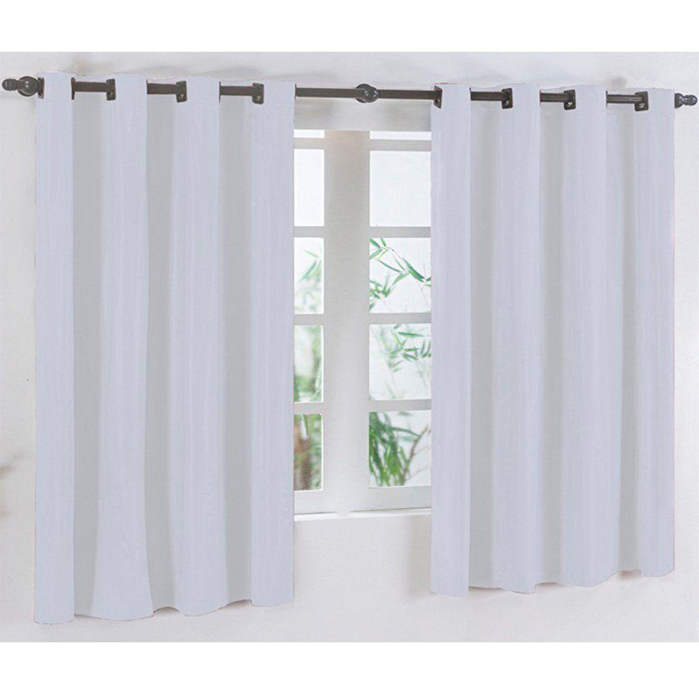 Cortina para Varão Simples Corta Luz 2,80m x 2,80m Branco - Vilela Enxovais