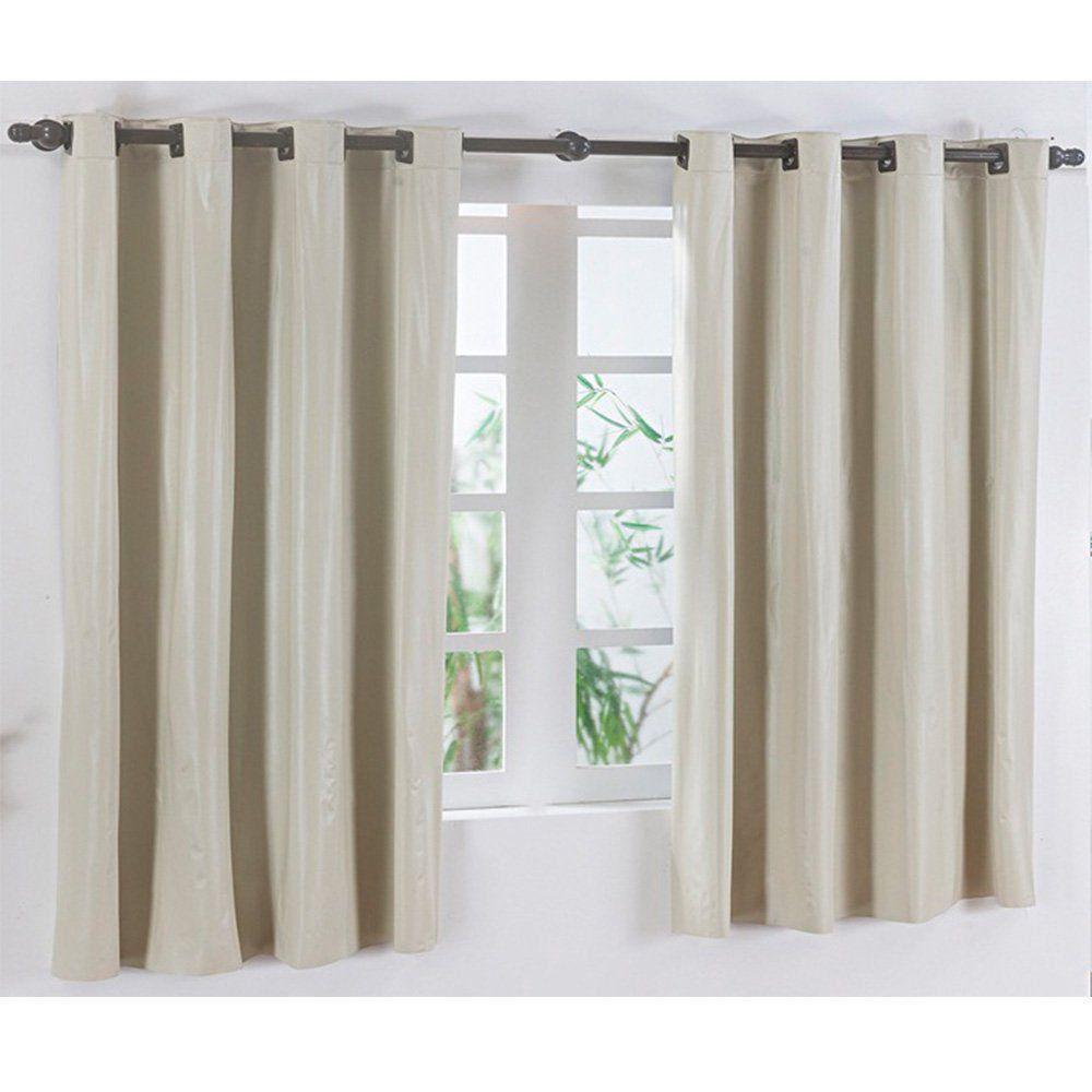 Cortina para Varão Simples Corta Luz 2,80m x 2,80m Marfim - Vilela Enxovais