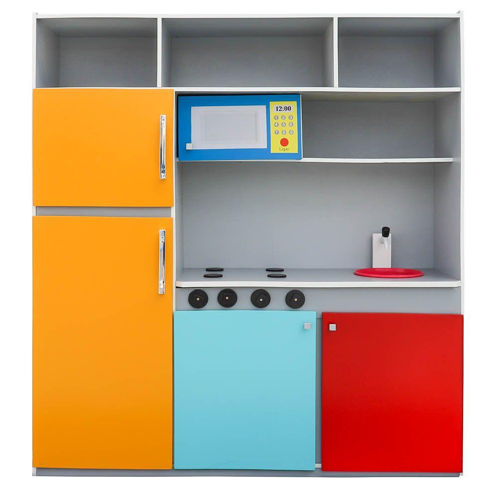 Cozinha de Brinquedo Infantil 130cm Colorida - Criança Feliz