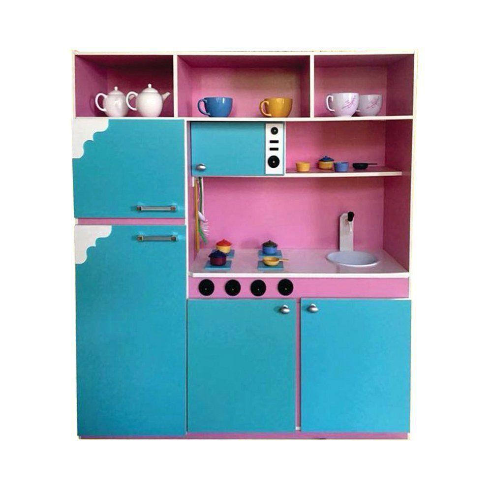 Cozinha Infantil 130cm Rosa/Azul - Criança Feliz