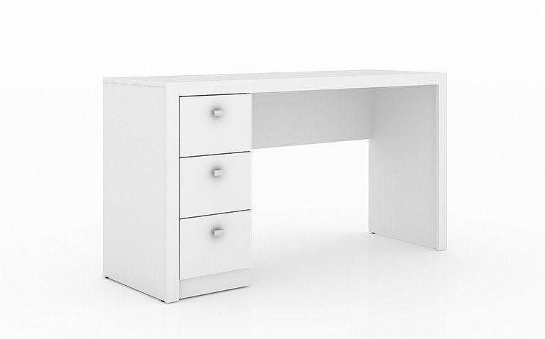 Escrivaninha para Home Office 03 Gavetas ME4102 Branco - Tecno Mobili