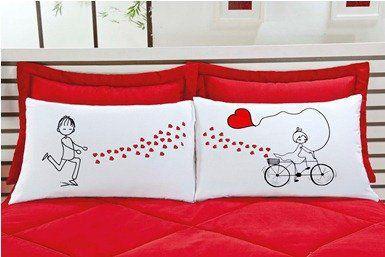 Fronhas Emoções 02 Peças - Bicicleta