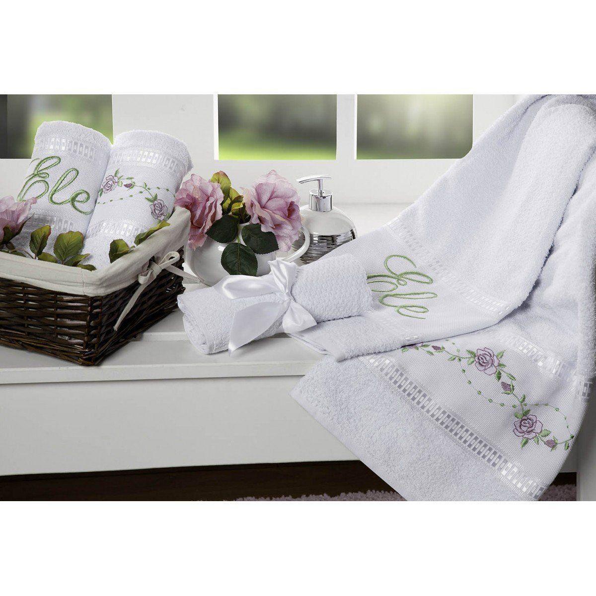 Jogo de Banho Bouquet 05 Peças - Branco