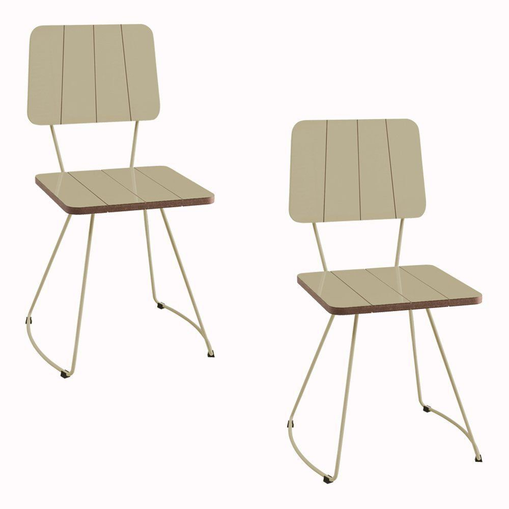 Kit 2 Cadeira Costela Meia Lua fendi - Daf Mobiliário