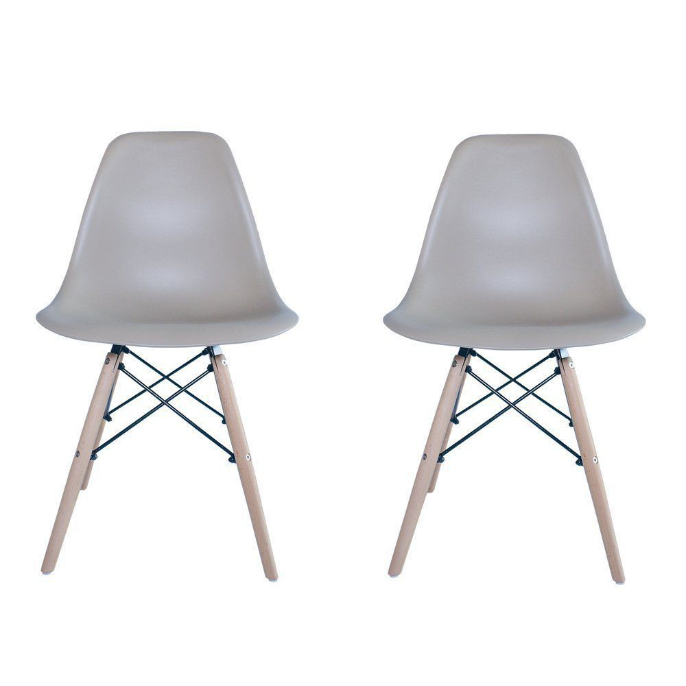 Kit 2 Cadeiras Eiffel Charles Eames em ABS Nude - Facthus