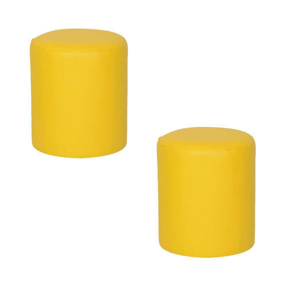 kit 2 Puffs Round Nobre Amarelo - Stay Puff