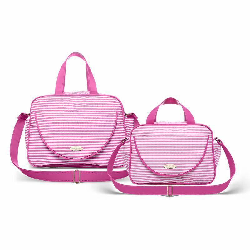 Kit Bolsa Maternidade Austria Capibaribe Pink - Classic For Baby Bags
