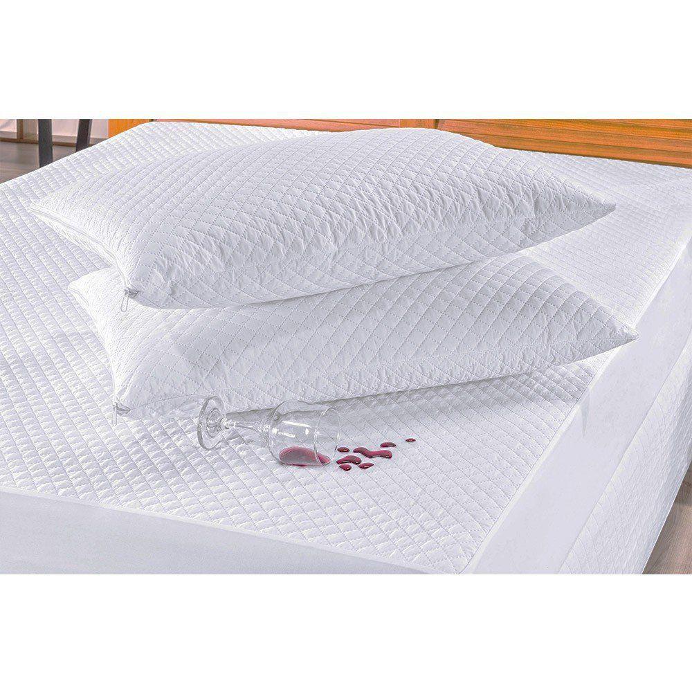 Kit Protetor de Travesseiro 02 Peças Impermeável Branco - Bia Enxovais
