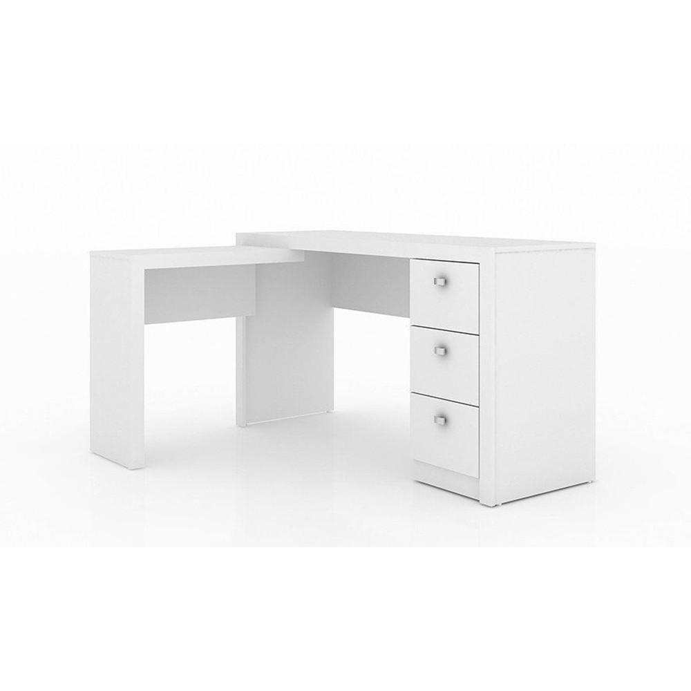 Mesa de Canto para Escritório ME4101 Branco - Tecno Mobili