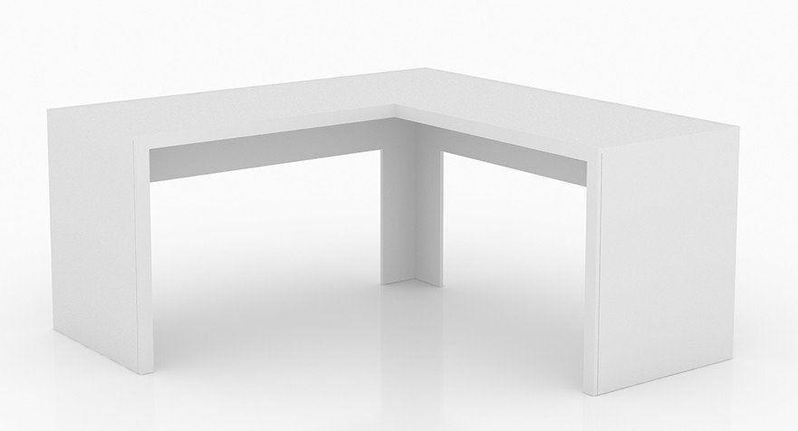 Mesa de Canto para Home Office ME4116 Branco - Tecno Mobili