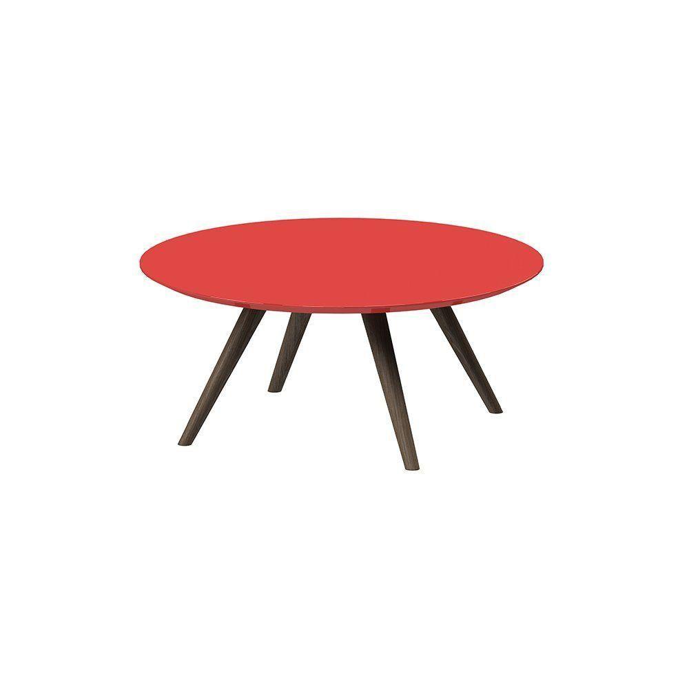 Mesa De Centro Redondo Vermelho - Pinoquio